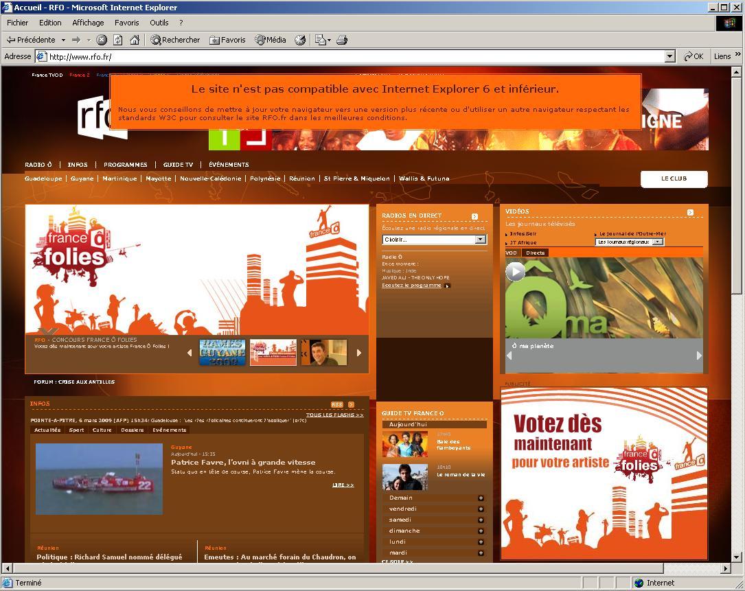 RFO bandeau Internet Explorer 6 IE6