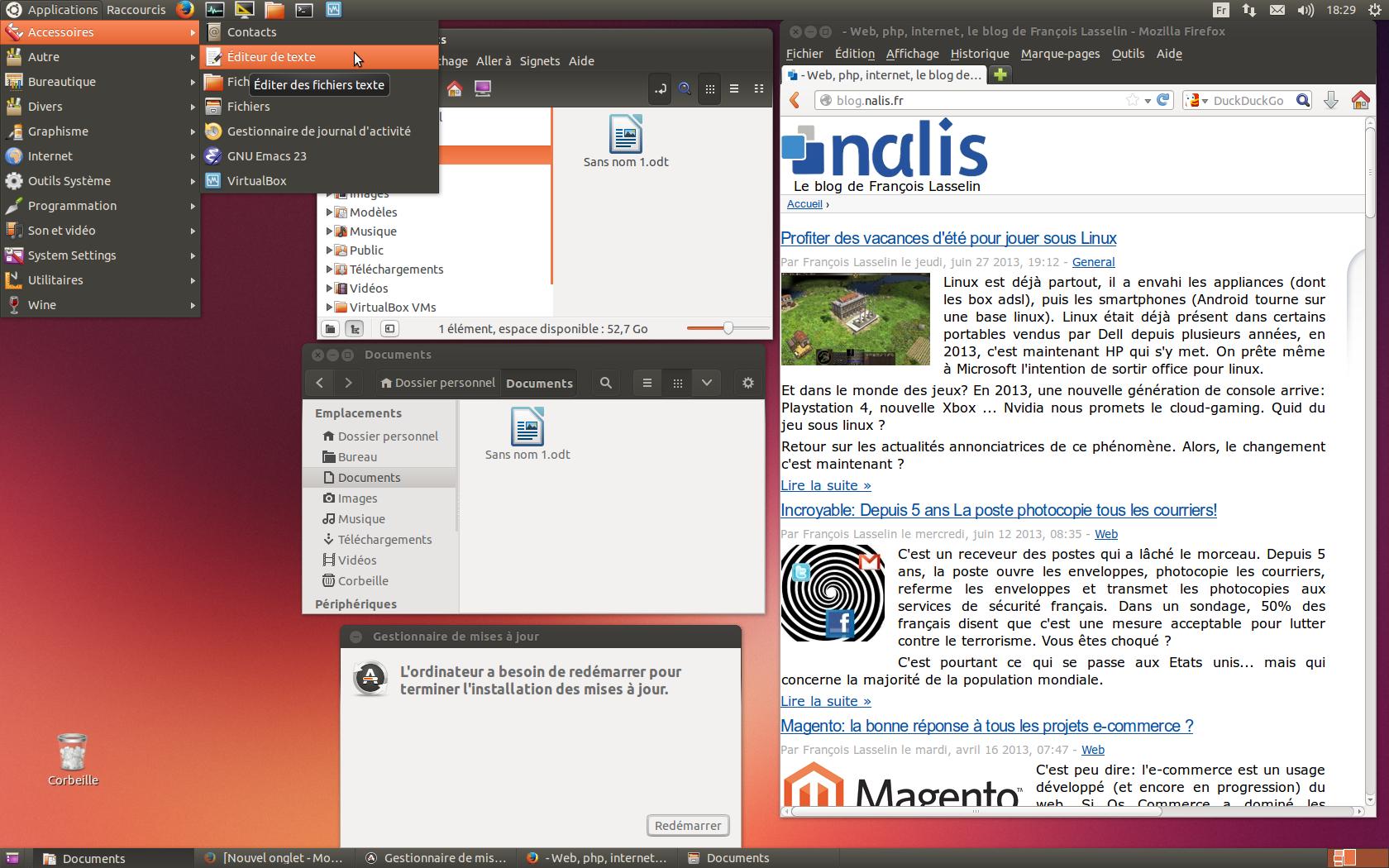 ubuntu saucy salamander le retour du classic mode gnome web php internet le blog de. Black Bedroom Furniture Sets. Home Design Ideas